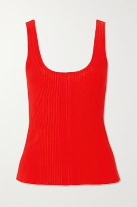 Altuzarra Yanaka Ribbed-knit Tank - Red