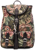 Saint Laurent Small Floral Tapestry Festival Backpack