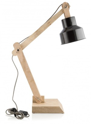 Home & Giftware Chelsea Desk Lamp Black