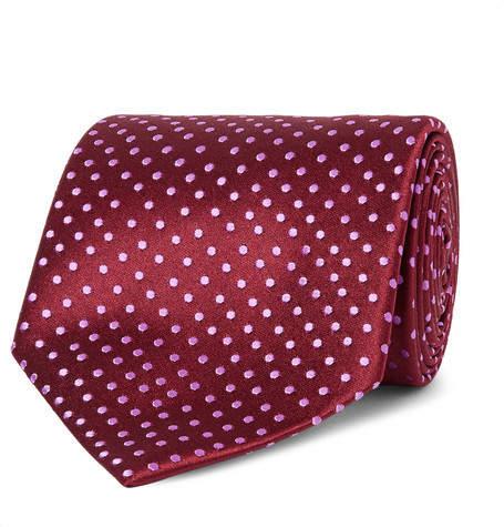 Charvet 8.5cm Polka-Dot Silk-Jacquard Tie