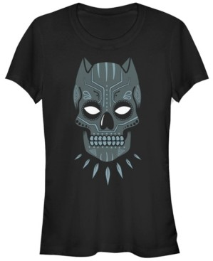 Fifth Sun Marvel Women's Black Panther Sugar Skull Short Sleeve Tee Shirt