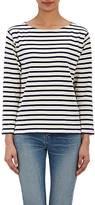 Saint Laurent Women's Distressed Striped Top