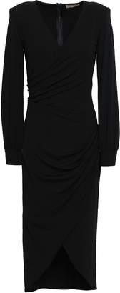 Michael Kors Wrap-effect Stretch-crepe Dress