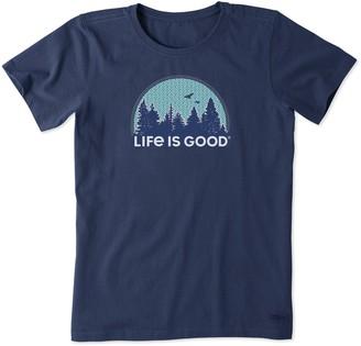 Life is Good Women's Outdoor Pattern Crusher Tee