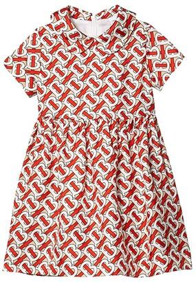BURBERRY KIDS Mini Eadella Dress (Infant/Toddler) (Vermillion Red IP Print) Girl's Clothing