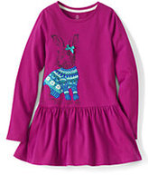 Classic Girls Holiday Graphic Leggings Top-Bunny With Bow