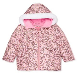 WIPPETTE KIDS Wippette Baby Toddler Girl Cheetah Winter Jacket Coat