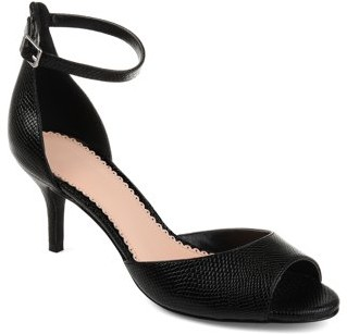 Brinley Co. Womens Open-toe Ankle Strap Pump