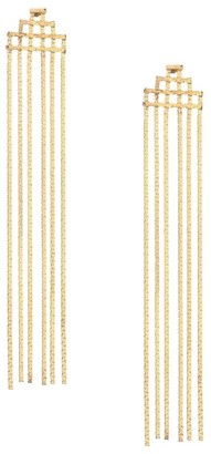 Jules Smith Designs Disco Fringe 14K Yellow Goldplated Statement Earrings