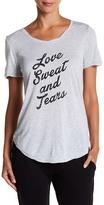 Betsey Johnson Love Sweat and Tears Roll Hem Tee