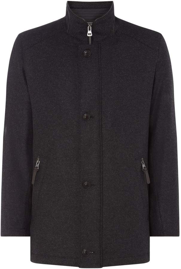 Bugatti Men's Wool coat with quilted lining