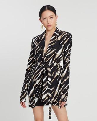 House of Holland Zebra Tie Dye Tailored Jacket