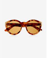 Express oversized tortoiseshell cat eye sunglasses