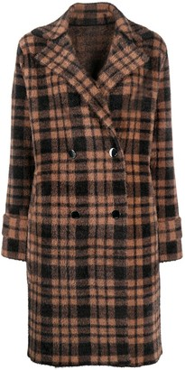 Pinko Double Breasted Plaid Coat