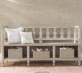 Pottery Barn Kids Entryway Storage Bench, Weathered White