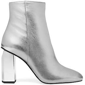 MICHAEL Michael Kors Women's Petra Metallic Leather Ankle Boots