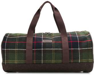 Barbour check pattern holdall