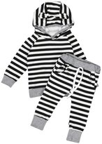 Morecome 2pcs Baby Boy Girls Hooded T-shirt Pants Outfits Set (6M, )
