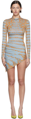 MAISIE WILEN SSENSE Exclusive Blue Turtleneck Dress