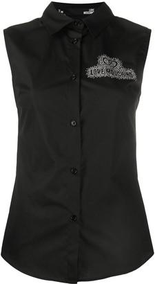 Love Moschino Sleeveless Embellished Shirt