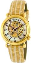 Stuhrling Original Women's 108.1235S7 Lifestyle 'Wall Street' -Tone Skeleton Automatic Watch