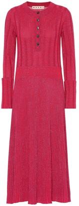 Marni Wool-blend midi dress