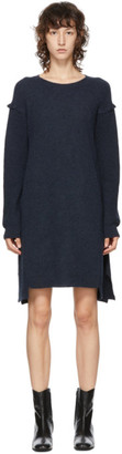 Stella McCartney Blue Wool and Alpaca Deconstructed Dress