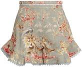 Zimmermann Mercer Flutter Frill linen-blend shorts