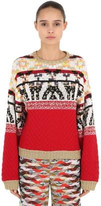 Missoni Jacquard Wool Blend Knit Sweater