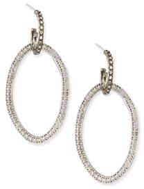 Armenta Silver Open-Circle Link Drop Earrings