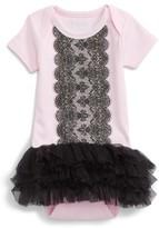 Infant Girl's Sara Kety Baby & Kids Lace Tutu Bodysuit