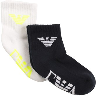Emporio Armani 2 Pairs Of Cotton Knit Socks