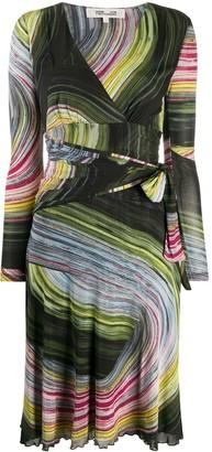 Dvf Diane Von Furstenberg Natalie graphic print dress