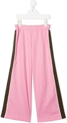 Fendi Kids FF logo-tape track trousers