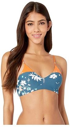 Maaji Wildflower Portrait Adjustable Bralette Top (Green Multi Floral) Women's Swimwear