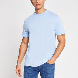 River Island Blue regular fit short sleeve T-shirt