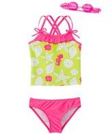 Jump N Splash Girl's Susie Seashell TwoPiece Swimsuit w/ Free Goggles (4-6X) - 8143026