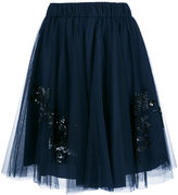 P.A.R.O.S.H. sequin embellished full skirt - women - Polyamide/Acetate/Viscose - XS