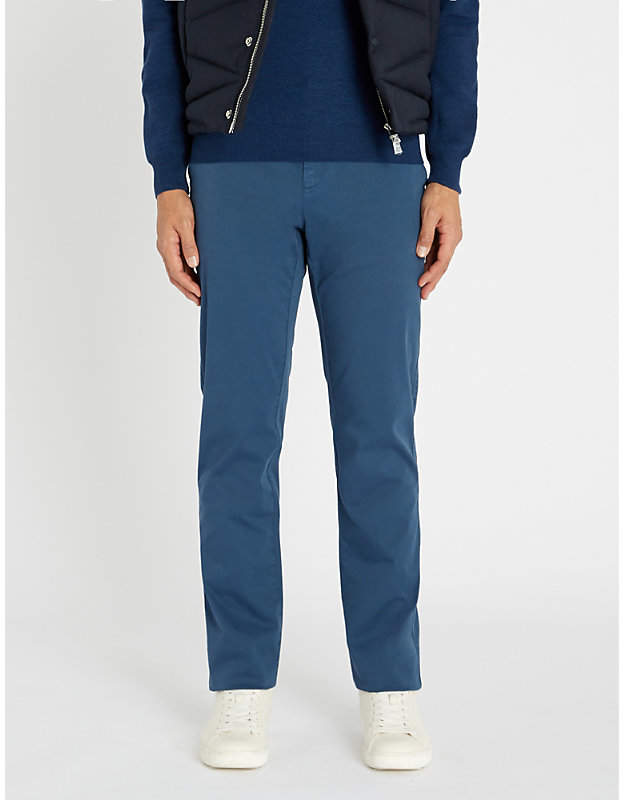 Canali Regular-fit cotton-blend trousers