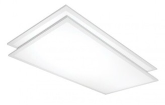 Nuvo Lighting 2' x 4' LED Flat Panel Light (Set of 2 Bulb Color Temperature: 4000K
