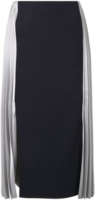 Cédric Charlier Two-Tone Pleated Skirt