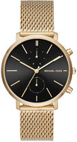 Michael Kors Men's Chronograph Jaryn Gold-Tone Stainless Steel Mesh Bracelet Watch 42mm MK8503