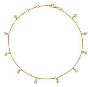 Bloomingdale's Diamond Bezel Droplet Ankle Bracelet in 14K Yellow Gold, 0.25 ct. t.w. - 100% Exclusive