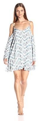 Lucca Couture Women's Cold Shoulder Shift Dress