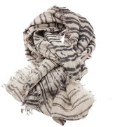 Clade Raw edge linen scarf