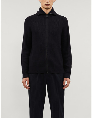 HUGO BOSS Chunky-knit wool-blend cardigan