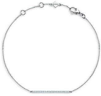 Birks Rosee Du Matin 18K White Gold & Diamond Bar Pendant Bracelet