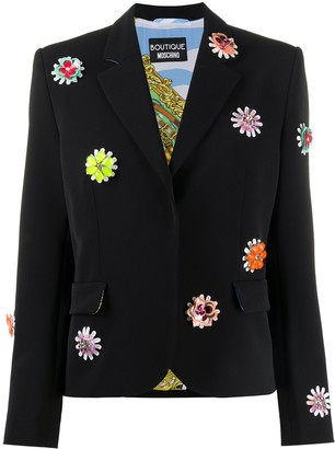Boutique Moschino Floral Embroidered Blazer