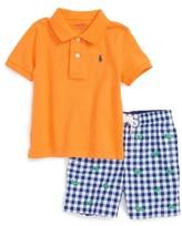 Polo Ralph Lauren Infant Boy's & Gingham Shorts Set