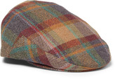 Lock & Co Hatters Plaid Wool and Cashmere-Blend Flat Cap